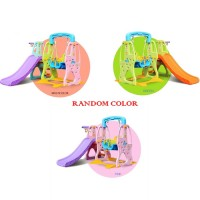 Swing Slide and Basketball Indoor Mini Playground (RANDOM COLOR)